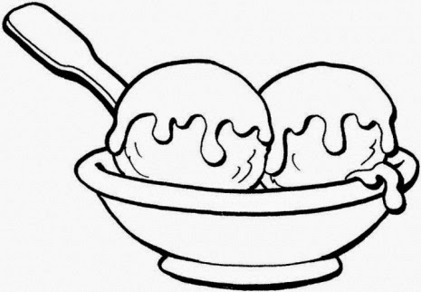 ice cream sundae coloring pages - 8 ice cream sundae coloring pages