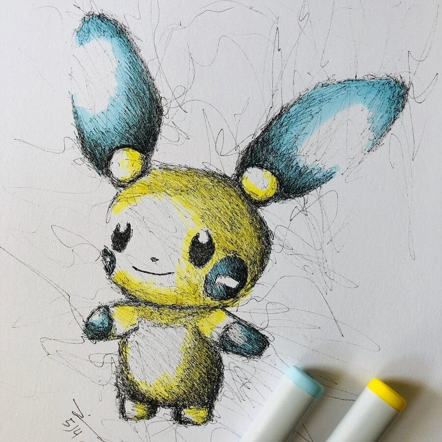 08-Pokemon-Jimmy-Mätlik-Fantasy-Character-Scribble-Drawings-www-designstack-co