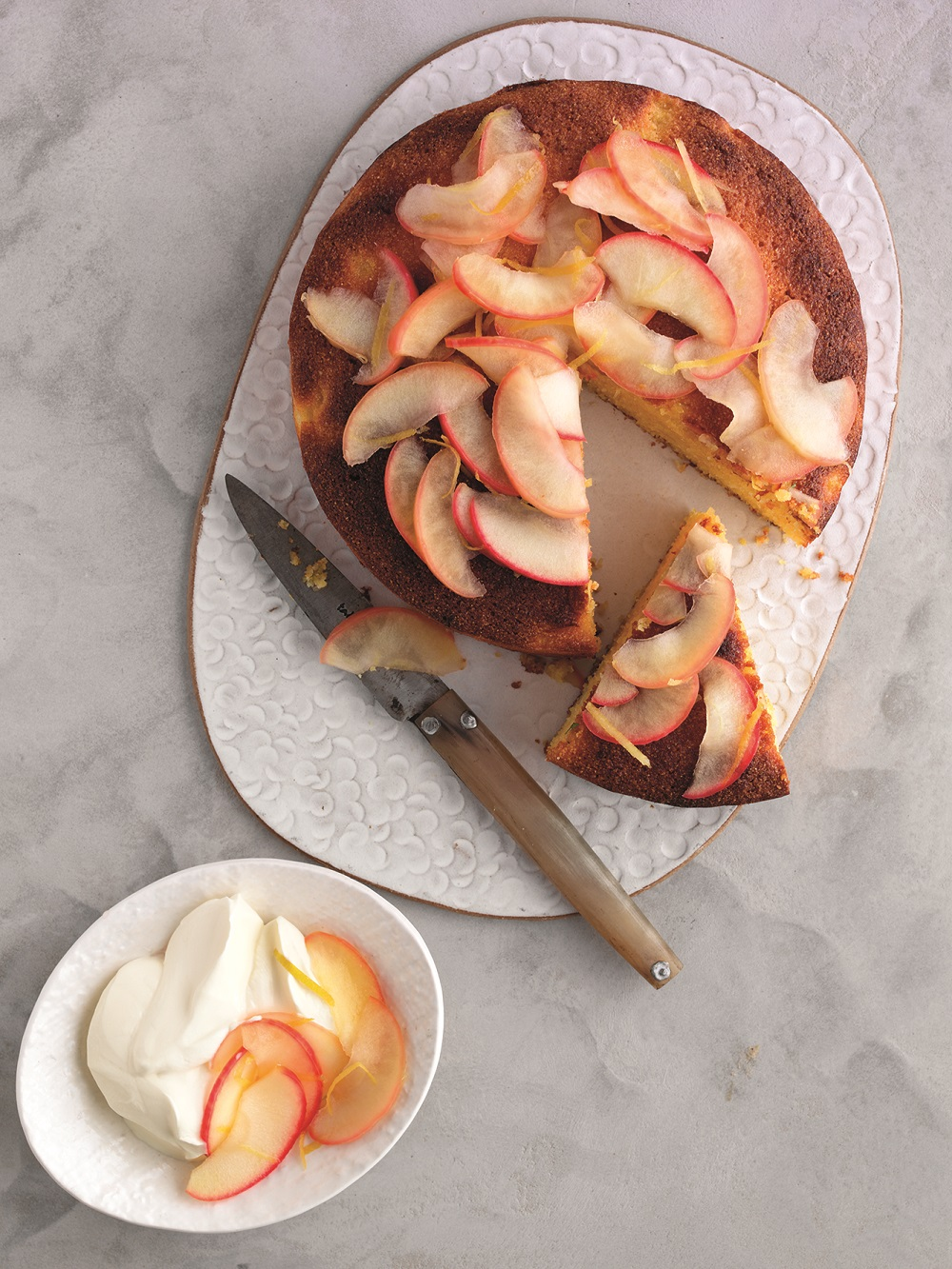 South African Pink Lady Cornmeal Cake