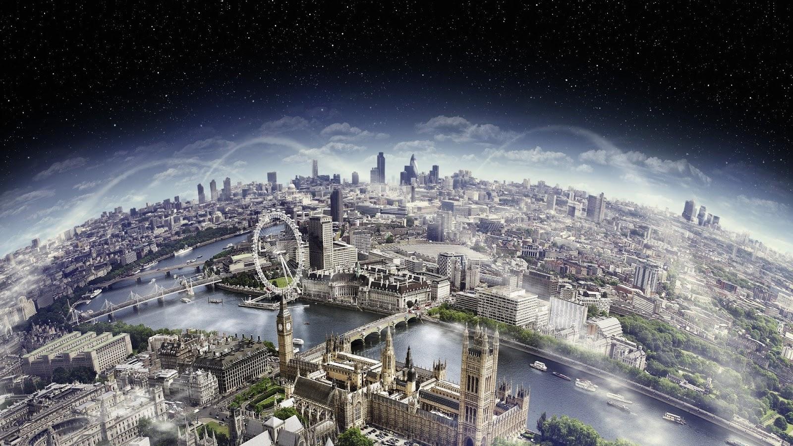 Beautiful London City Scape Wallpaper