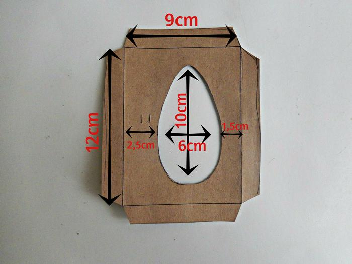 molde da caixa para ovo de colher