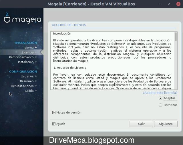 Licencia de uso de Mageia Linux