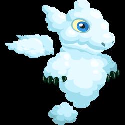 Das Erscheinen des Baby Wolken-Drache