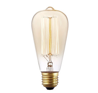 Farmhouse Style edison light bulb, Chic on a Shoestring Decorating