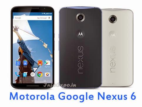 Motorola GoogleNexus 6: 6 inch AMOLED,2.7GHz Quad core Android Lollipop Smartphone Specs, Price