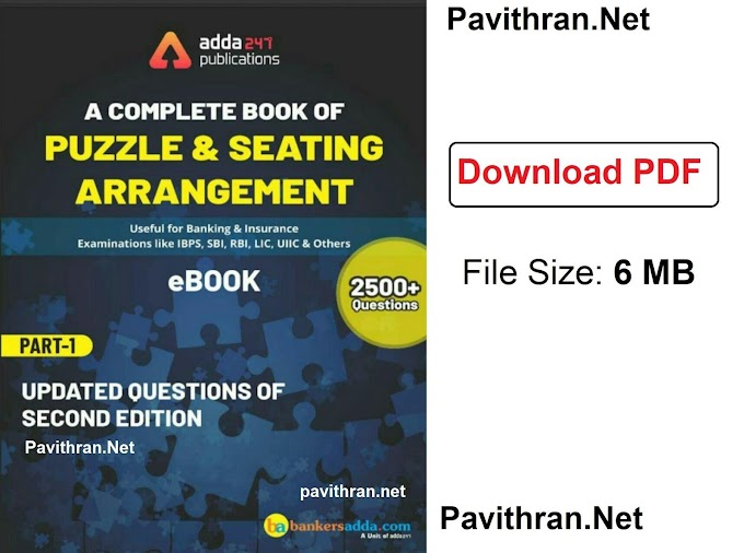 Puzzle & Seating Arrangement Paid e-Book from Adda247 PDF Download