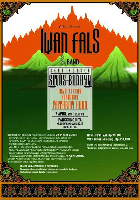 Konser Iwan Fals Situs Budaya Jawa Tengah - Kerajaan Mataran Kuno