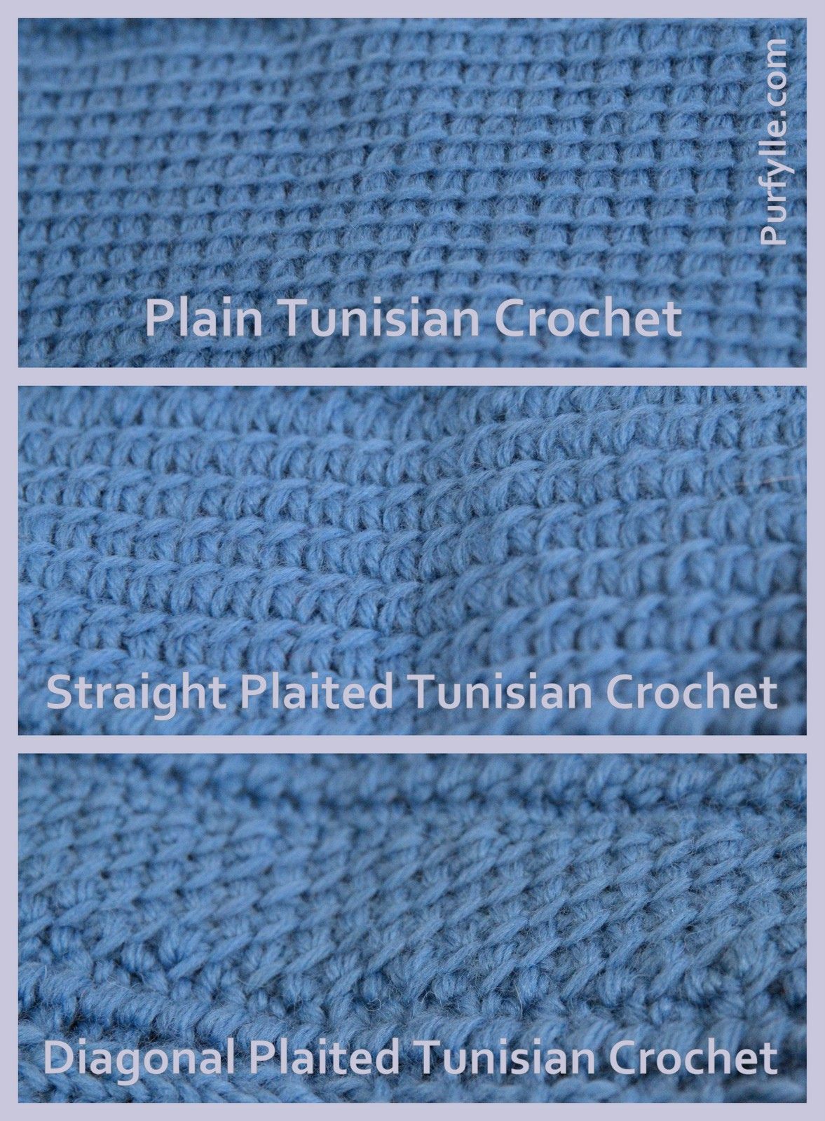 Tunisian crochet stitch types