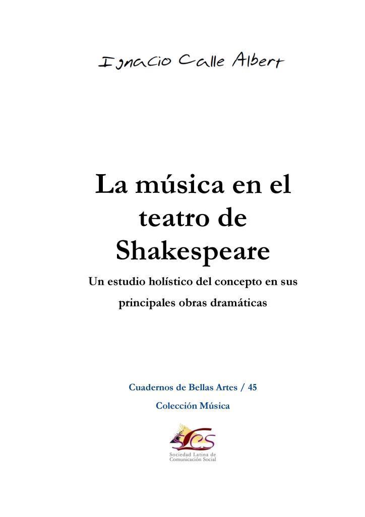 La música en el teatro de Shakespeare – Ignacio Calle Albert