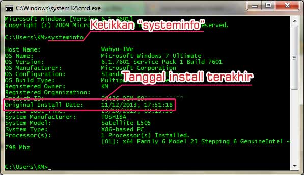 Cara Mengetahui Tanggal Install Windows