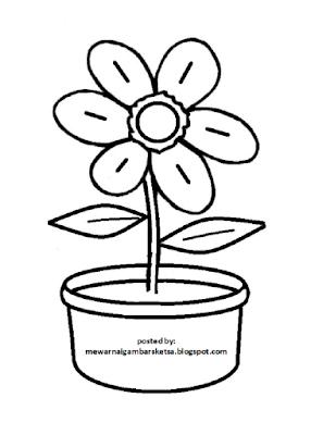 Gambar Mewarnai Bunga Matahari Dalam Pot Mewarnai Cerita Terbaru Lucu Sedih Humor Kocak Romantis