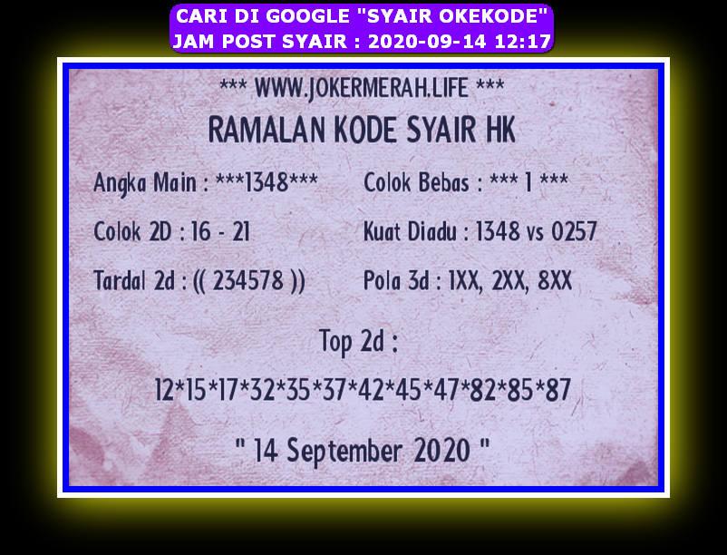 Kode syair Hongkong Senin 14 September 2020 251