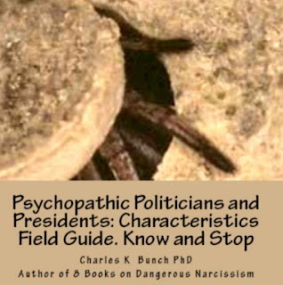 book on Donald Trump, Psychopathic Politicians Vampires and Pirates by Charles K. Bunch, Ph.D.