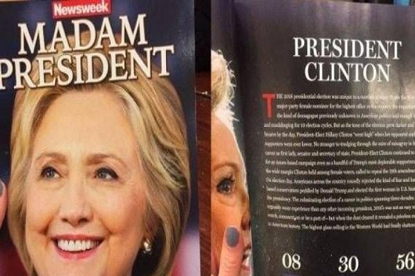 فضيحة مجلة نيوزويك الامريكية: الرئيسة كلينتون