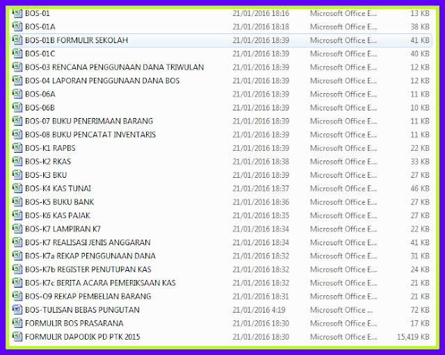 Download Gratis Aplikasi Laporan Bos Format K-3, K-4, K-5, K-6, K-8 Lengkap