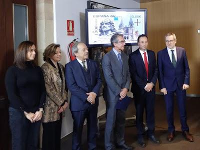 Presentación del sello del 1300 aniversario del Reino de Asturias