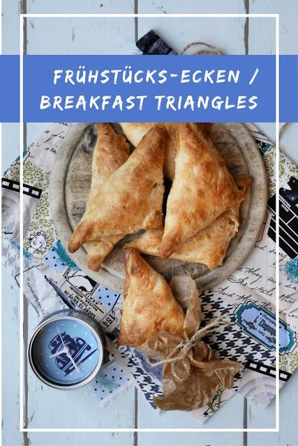 Frühstücks-Ecken mit Rührei / Breakfast Triangles with Scrambled Eggs
