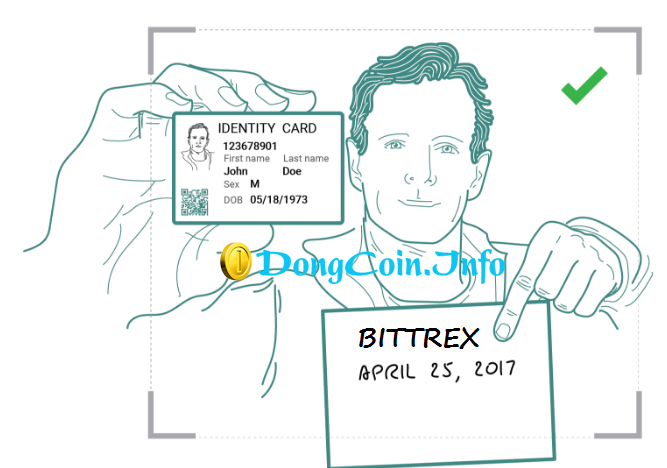 Up giấy tờ tùy thân lên Bittrex