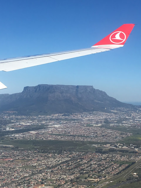Table mountain seen from Turkish Airlines plane
