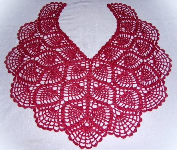 crochet lace cape - pineapple lace