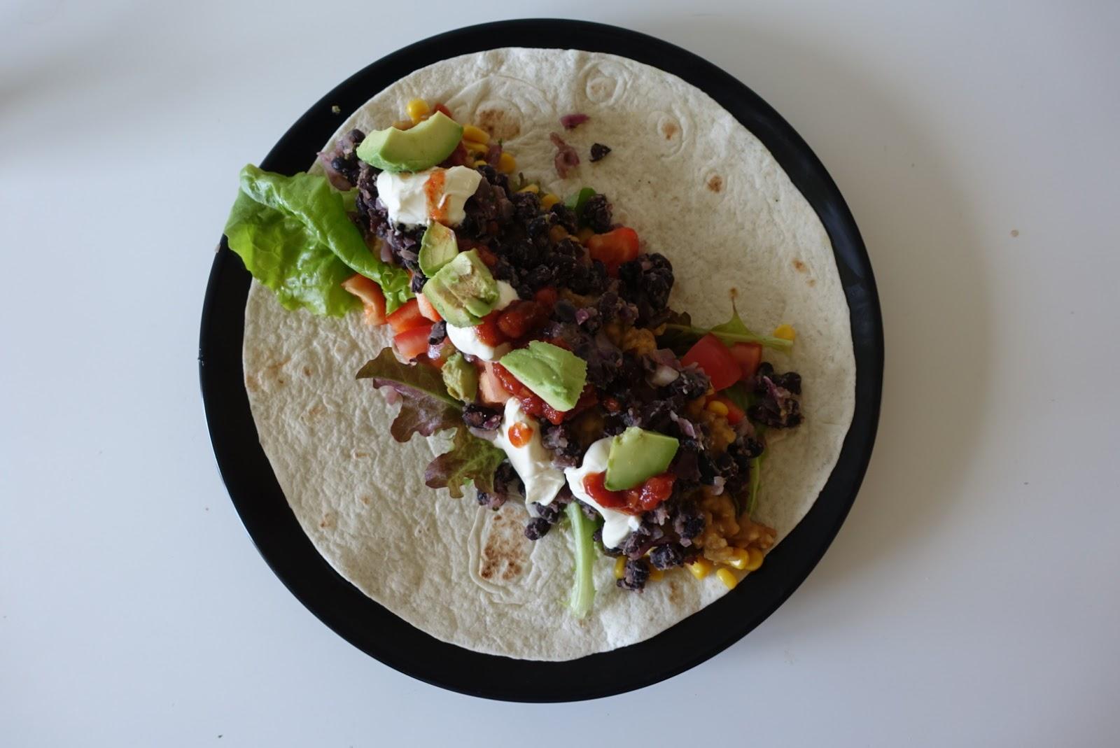 vegetarisk tacos linser