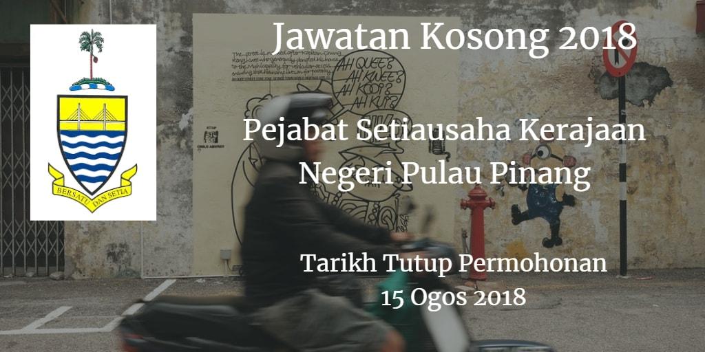 Jawatan Kosong SUK Pulau Pinang 15 Ogos 2018