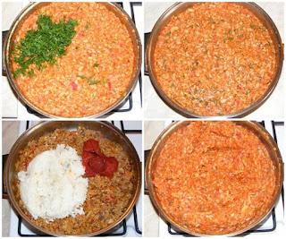 umplutura sarmale, cum facem umplutura de sarmale de post, retete cu stevie hrean orez soia ceapa ardei morcovi ciuperci marar telina si bulion, retete, retete culinare, cum facem sarmale de post in foi de stevie si hrean,