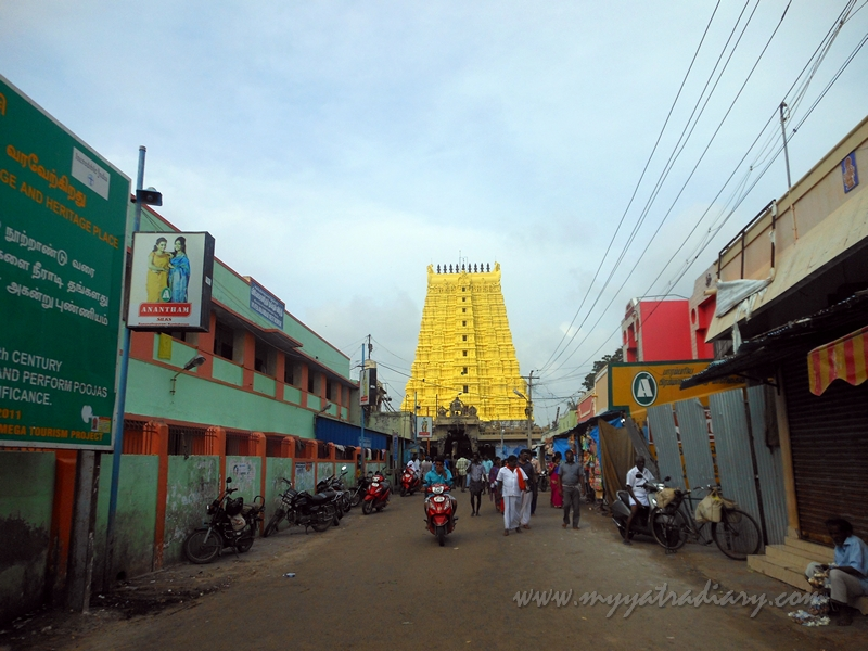 Shri Ramanathaswamy temple in Rameshwaram.