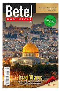 Lição 13 - O Messias: O Legado de Israel