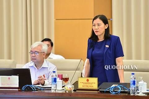 Chủ nhiệm Uỷ ban tư pháp Lê Thị Nga