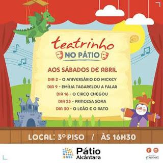 Pátio Alcântara recebe a peça infantil 'Emília tagarelou a falar'