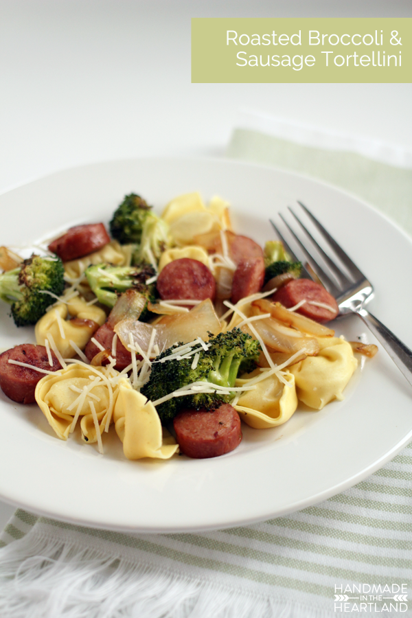 Roasted Broccoli and Sausage Tortellini Recipe