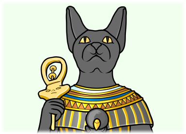 シストルムを持つエジプト神話の神 バステト