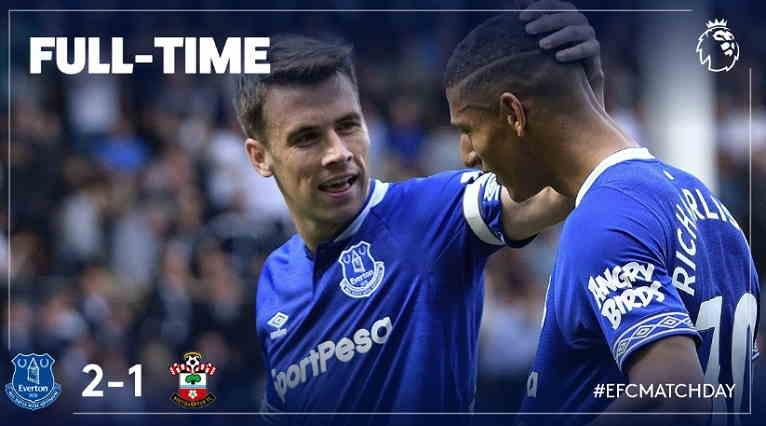 Hasil Everton vs Southampton Skor Akhir 2-1 [ Premier League 2018]