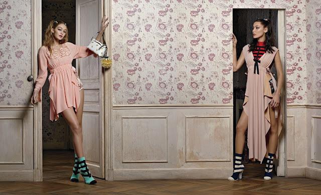 Bella Hadid, Gigi Hadid & Vittoria Ceretti : Fendi - Spring-Summer 2017 by Karl Lagerfeld