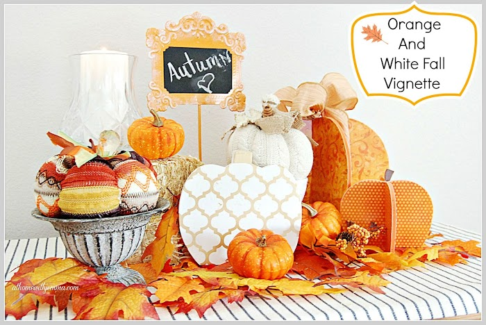 Orange And White Fall Vignette