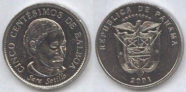 Panama (cinco) 5 Centesimos (2001) Sara Sotillo