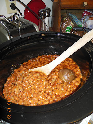 Julia's Beans, just the right amount of sweet molasses for a delicious baked bean, side dish.