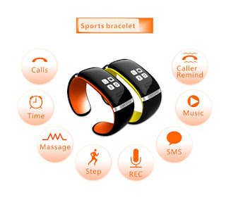 Smart Design OLED Bluetooth 3.0 Bracelet Watch with Call ID Display / Answer / Dial / SMS Sync
