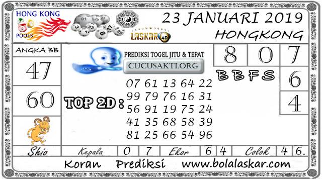 Prediksi Togel HONGKONG LASKAR4D 23 JANUARI 2019