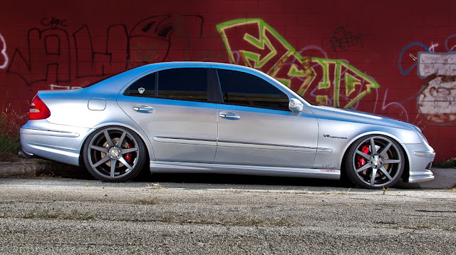 mercedes e55 amg w211 vossen wheels