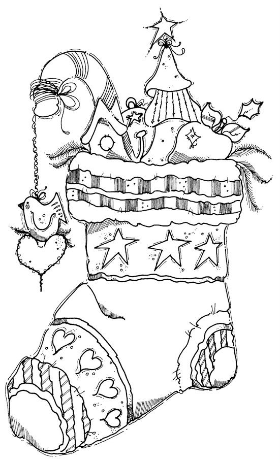 Adult Coloring pages: Seasonal: Winter/Christmas