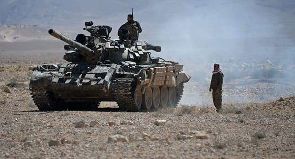 الجيش يتابع عملياته لتحرير بادية السويداء ويضيق الخناق على بؤر إرهابيي داعش.