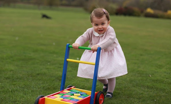Princess Charlotte will celebrate her first birthday. On the occassion of that birthday, her mother Kate Middleton published new photos Princess Charlotte wore dress livly shoes