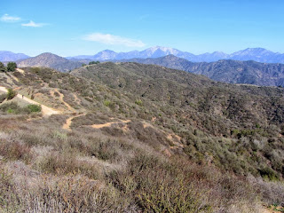 View northeast toward summit 2583