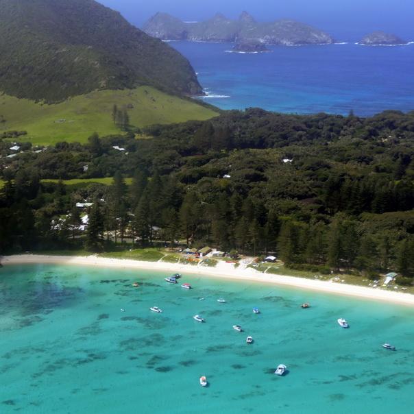 Lord Howe Island idyllisch Strand Ziel Sicht Flugangst