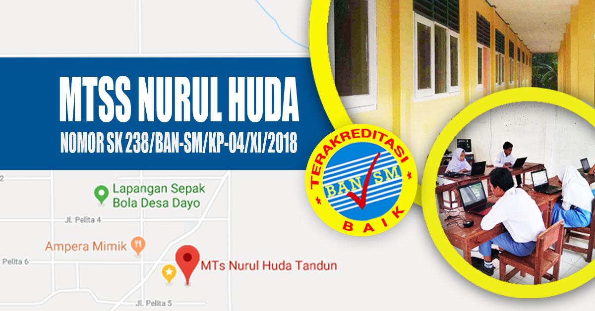 Brosur Pendaftaran dan Penerimaan Siswa/Santri Baru Pesantren Gratis MTs Nurul Huda Rokan Hulu TP 2019-2020