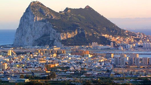 View of Gibraltar in a day trip from Malaga