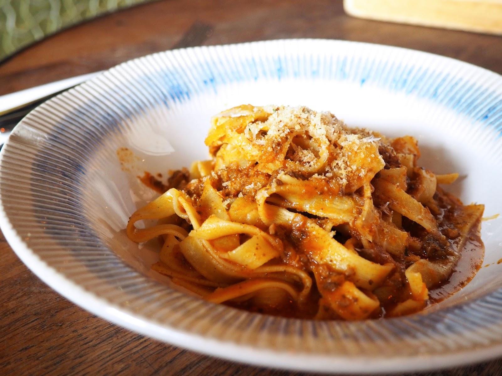 Jamie's Italian Super Lunch Menu Tagliatelle Bolognese