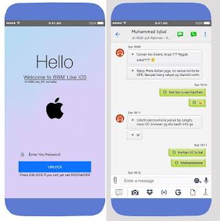 BBM Mod Style Theme iPhone Versi v3.3.1.24